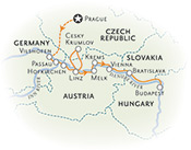 Danube River Cruise Bike Tour map